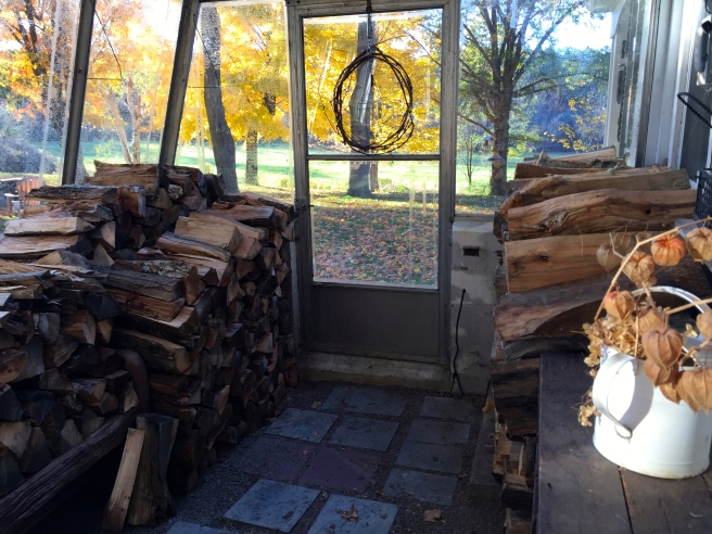 With some extra space, my next plan is to move some of my own wood in here, filling the middle section. That should give me close to three cords stored here, allowing me to avoid trudging through heavy snow or a storm to feed the fire.