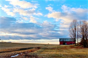 Red Barn at Sunrise I