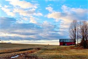 Red Barn at Sunrise I