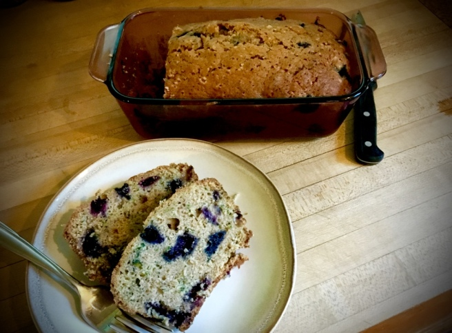 blueberry zuchini bread