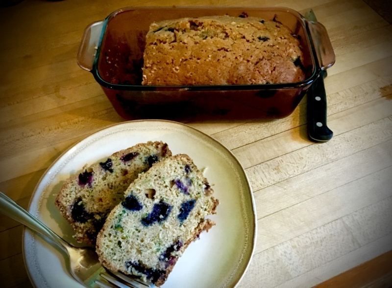 blueberry zuchini bread